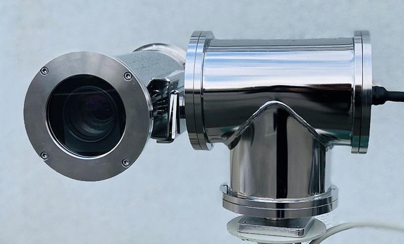Das Bild zeigt eine Überwachungskamera für den harten Einsatz
