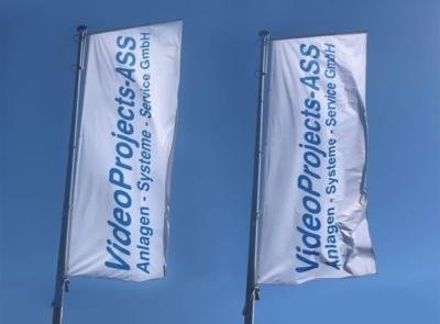 Das Bild zeigt die Flaggen der VideoProjects GmbH