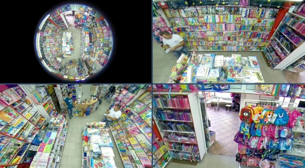 Das Bild zeigt eine mehrfach-Darstellung von einer Überwachungskamera