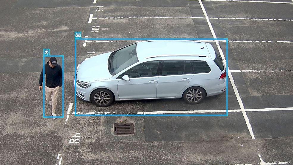 Videoüberwachung mit Bewegungserkennung