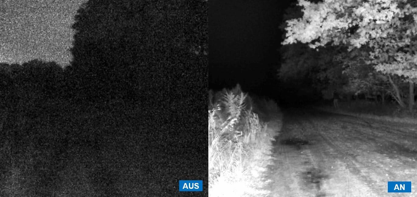 Videoüberwachung mit Infrarotlicht
