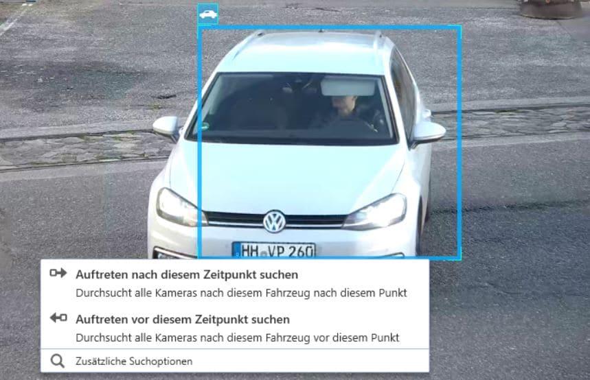 Fahrzeugklassen Videoüberwachung aus Hamburg