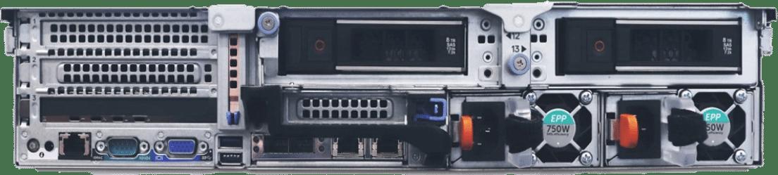 Das Bild zeigt einen NVR von hinten
